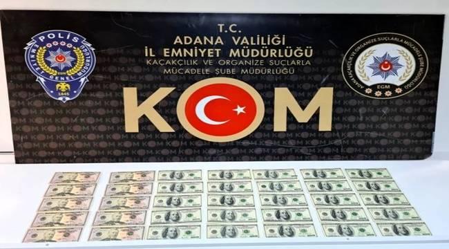 Adana'da Sahte 5 bin doları piyasa sürerken yakalandı