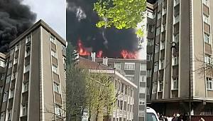 Bağcılar'da yangından kurtulmak için 6. kattan atlayan yaşlı tamirci hayatını kaybetti