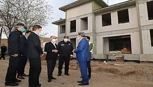 Emniyet Genel Müdürü Mehmet Aktaş Elazığ'da Yapımı Devam Eden İlçe Emniyet Müdürlüğü Binalarını İnceledi