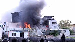 Eyüpsultan'da balıkçı deposunda korkutan yangın