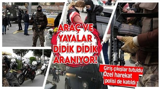 İstanbul Okmeydanı'nda giriş ve çıkışlar kapatıldı Araçlar didik didik aranıyor