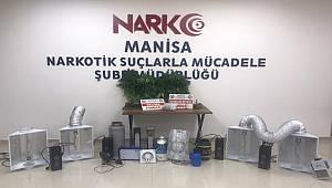 Manisa'da 1 şahıs Evini uyuşturucu imalathanesine çevirmiş