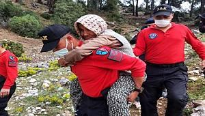 Sahurdan sonra kaybolan Alzheimer hastası yaşlı kadın dağda bulundu
