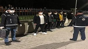 Samsun'da 7 kaçak göçmen yakalandı