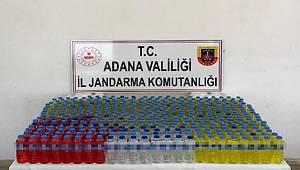 Adana'da 330 litre sahte içki ele geçti