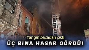 İzmir'de fırın bacasından çıkan yangında 3 bina hasar gördü
