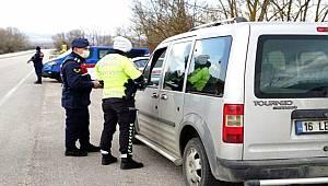 Jandarma ve polisten 'tam kapanma' denetimleri