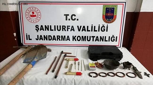 Şanlıurfa'da Kaçak kazıda yer altından Roma zindanları çıktı 4 kişi gözaltına alındı
