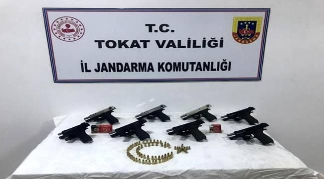Tokat'ta silah kaçakçılığı operasyonunda bir şüpheli gözaltına alındı