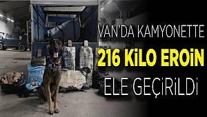 Van'da Narkotik köpeği 'Rexo' sayesinde 216 kilo eroin ele geçirildi
