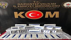 Gaziantep'te 2 bin 880 paket gümrük kaçağı sigara ele geçirildi