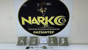 Gaziantep'te 4 kilo 110 gram uyuşturucu ele geçirildi