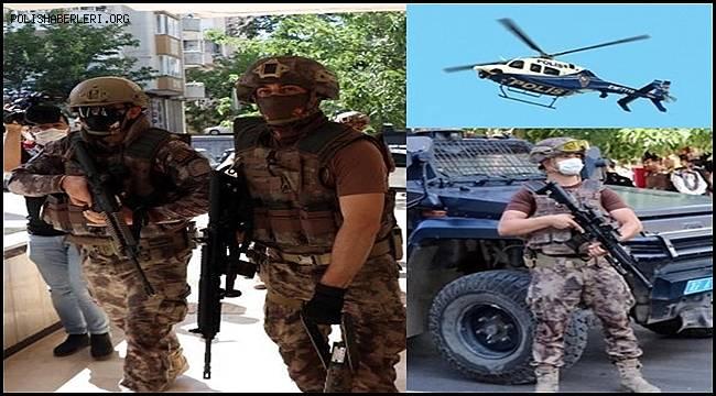 Gaziantep'te 600 polisle 9 saatlik dev uyuşturucu operasyonu başladı