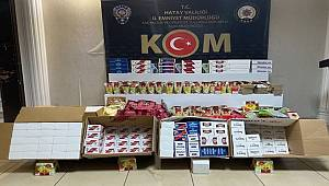 Hatay'da kaçak sigara malzemeleri ele geçirildi