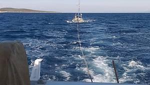 Su alan teknenin imdadına Kıyı Emniyeti yetişti
