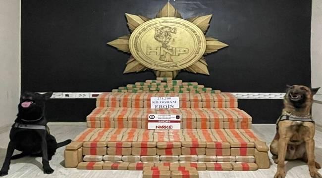 Yüksekova'da 271 kilogram eroin ele geçirildi