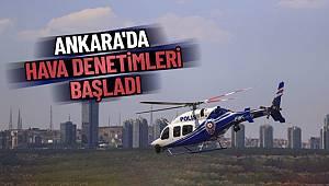 Ankara'da Helikopterli Trafik Denetimi