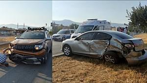 Gaziantep'te cip ile otomobil çarpışması sonucu 2 kişi yaralandı