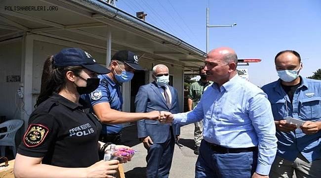 İçişleri Bakanı Süleyman Soylu Kilis'te