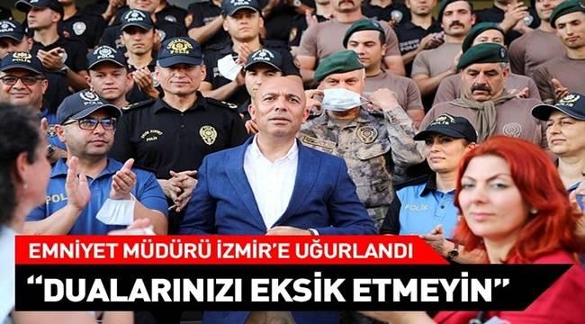 İzmir'e atanan Mersin Emniyet Müdürü Şahne kente veda etti