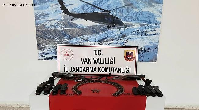 Van'da PKK/KCK'ye ait silah ve patlayıcılar ele geçirildi