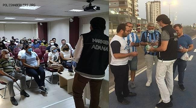 Adana'da uyuşturucuyla mücadele kapsamında polis vatandaşlarla buluştu