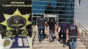 Adıyaman'da uyuşturucu operasyonunda yakalanan 2 şüpheli tutuklandı