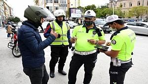 Aksaray'da halk otobüsleri ve motosikletler denetleniyor