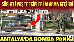 Antalya'da otobüs durağındaki şüpheli poşetin içerisinden zeytinyağı çıktı