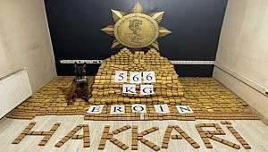 Bakan Soylu Yüksekova'da 566 kilogram eroin ele geçirildiğini bildirdi