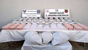 Hakkari'de 98 kilo 600 gram uyuşturucu ele geçirildi