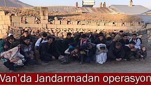 Jandarma'dan Operasyon Van'da 34 Mülteci Yakalandı