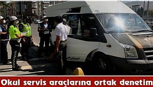 Malatya'da Okul servis araçlarına ortak denetim