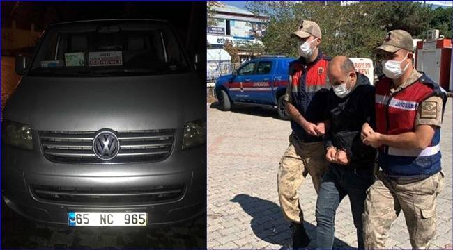 Resmi araçla göçmen kaçakçılığına Jandarma 'dur' dedi