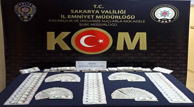 Sakarya'da 2 bin adet sahte 50 dolarlık banknotlarla yakalanan şüpheli tutuklandı