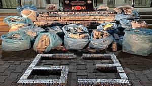 Şanlıurfa'da 16 bin 370 paket gümrük kaçağı sigara ele geçirildi