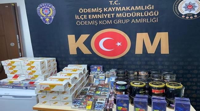 Tire'de kaçak tütün operasyonunda 1 kişi yakalandı