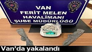 Van Havalimanında İranlı şüpheli Çorabına sakladığı Uyuşturucular ile yakalandı