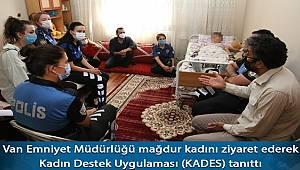 Van Polisi Mağdur Kadını Ziyaret Edip KADES'i Anlattı