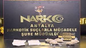 Antalya'da uyuşturucu ticareti yaptığı öne sürülen zanlı tutuklandı