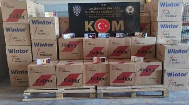 Gaziantep'te 21 milyondan fazla makaron ele geçirildi