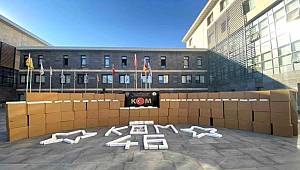 Kahramanmaraş'ta 3 milyon 150 bin makaron ele geçirildi