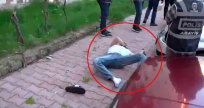 Cezaevi Firarisi Polisi Karşısında Görünce Kendini 5. Kattan Aşağı Attı!