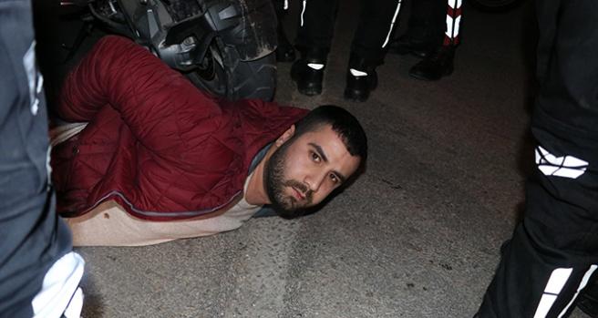 Polisten kaçan sürücü 'Kimyon' savurup motorlu timlerden kurtulmak istedi