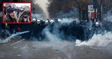Fransız polisinden göstericilere sert müdahale! Protestocu gözünden vuruldu - Haberler