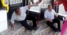 Gaziantep'te Taciz Şüphelisini Terlikle Dövüp, Polise Teslim Ettiler
