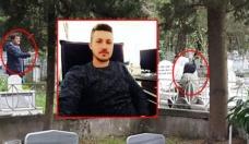 Oğlunun mezarı başında bulundu... Polis kurtardı