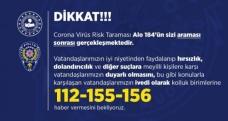 Polis 'korona virüs' dolandırıcılık olaylarına karşı uyardı!